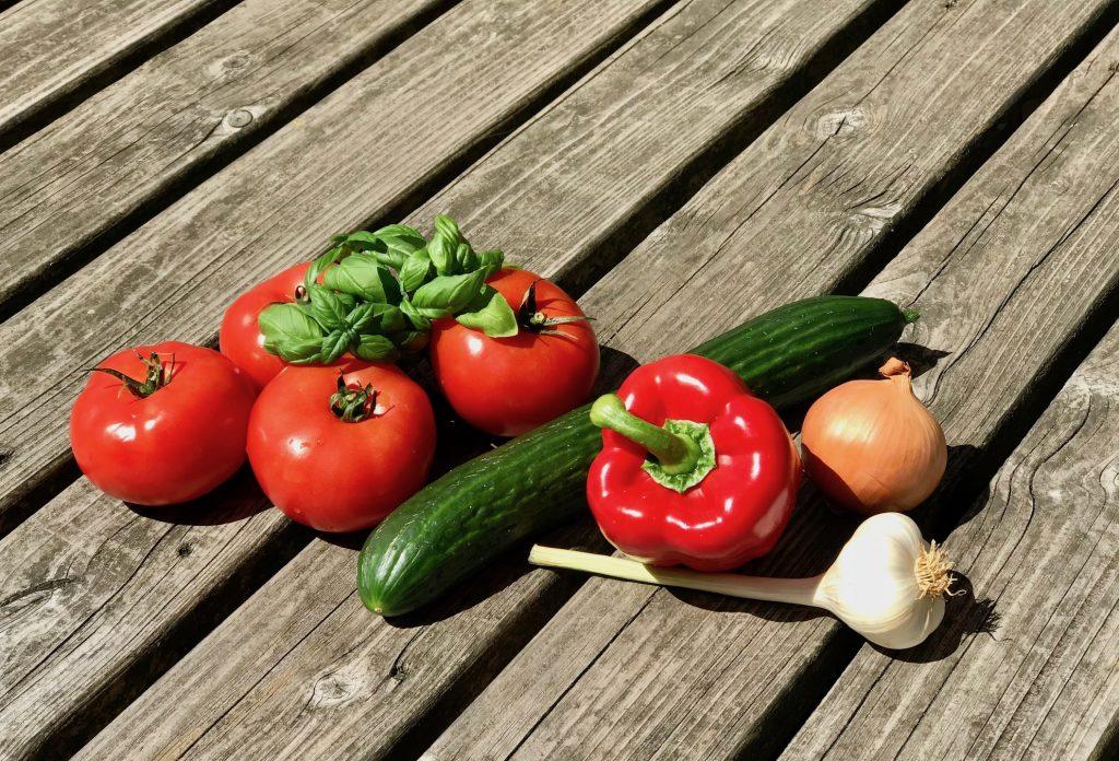 Gemüse für die Gazpacho