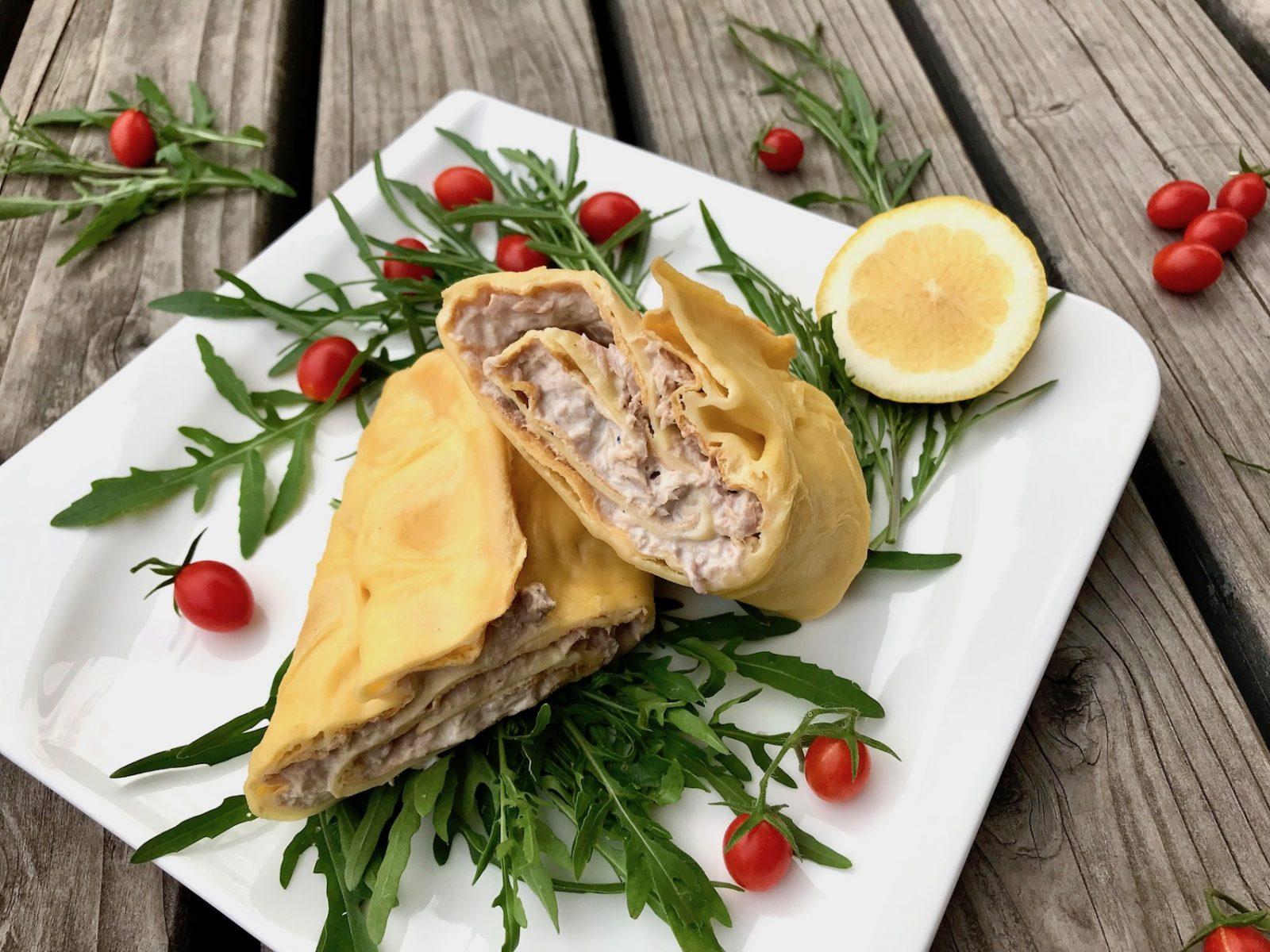 Thunfisch-Pfannkuchenwrap