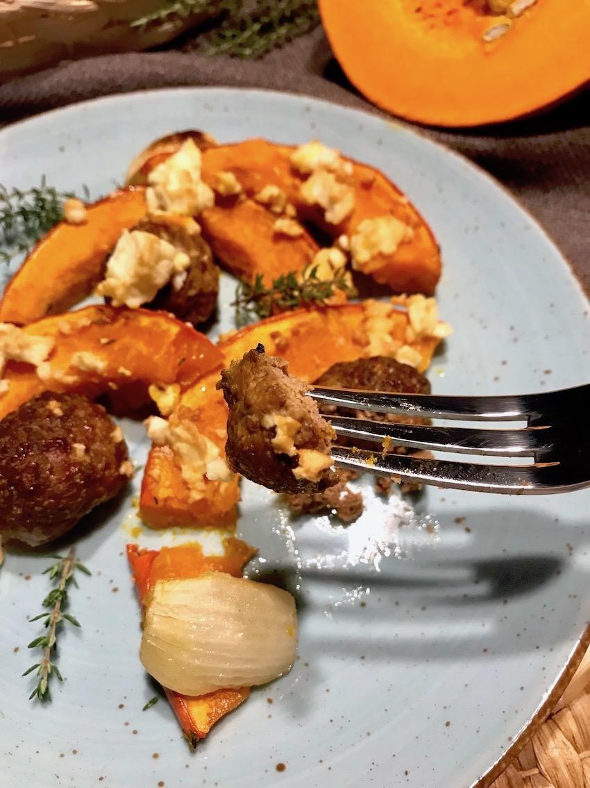 Ofenkürbis mit Roasted Garlic Dipp Rezept
