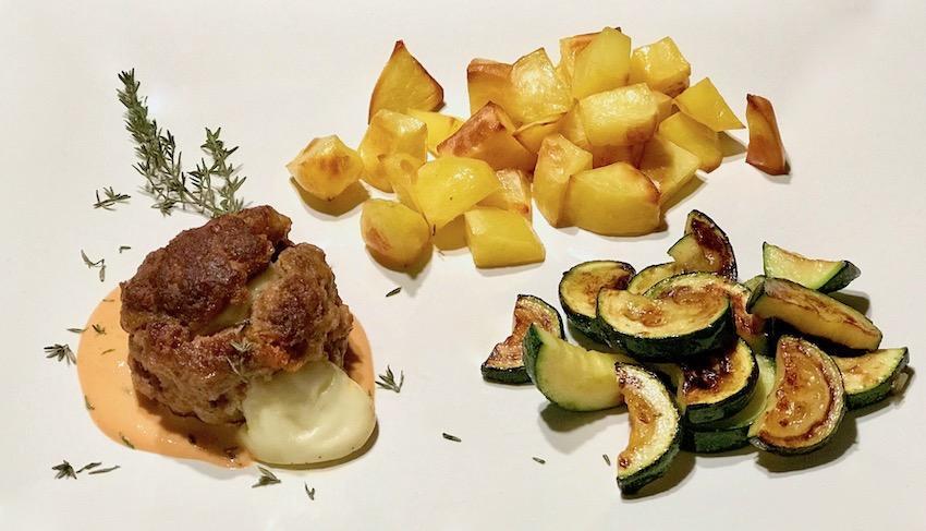Babybel-Hackfleisch mit Ofenkartoffeln Rezept