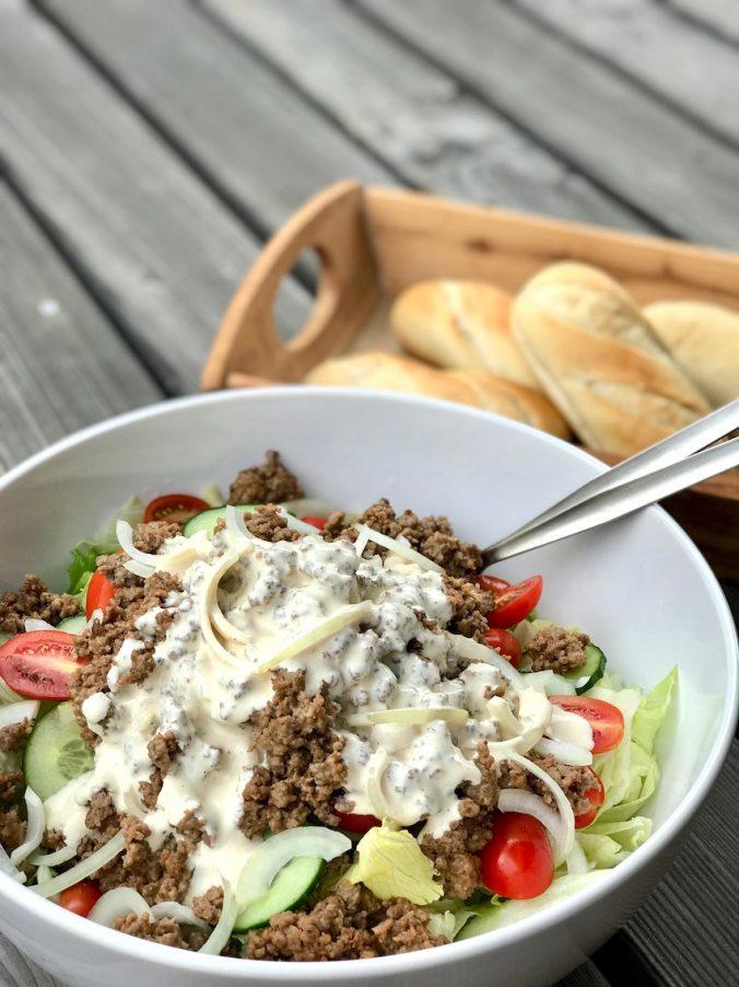 Cheeseburger-Salat