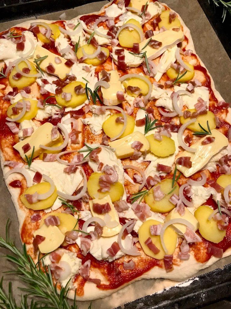 Pizza belegen