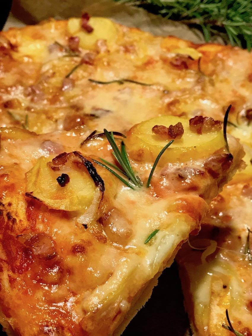 Raclette Pizza Rezept