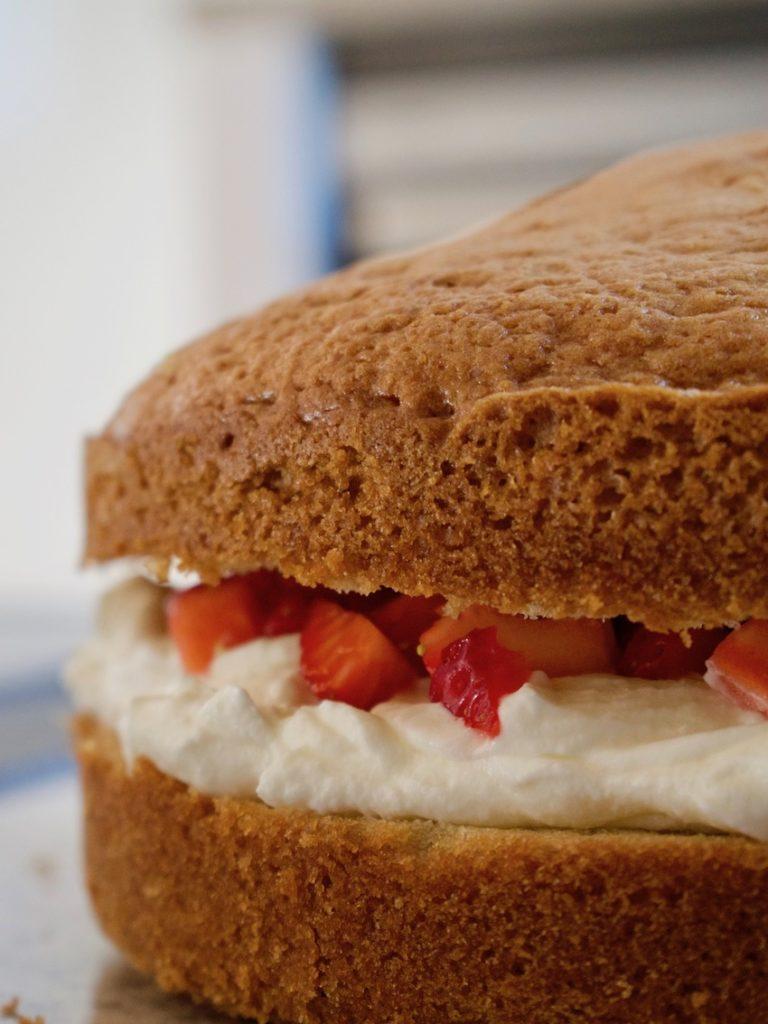 Erdbeersahne-Torte