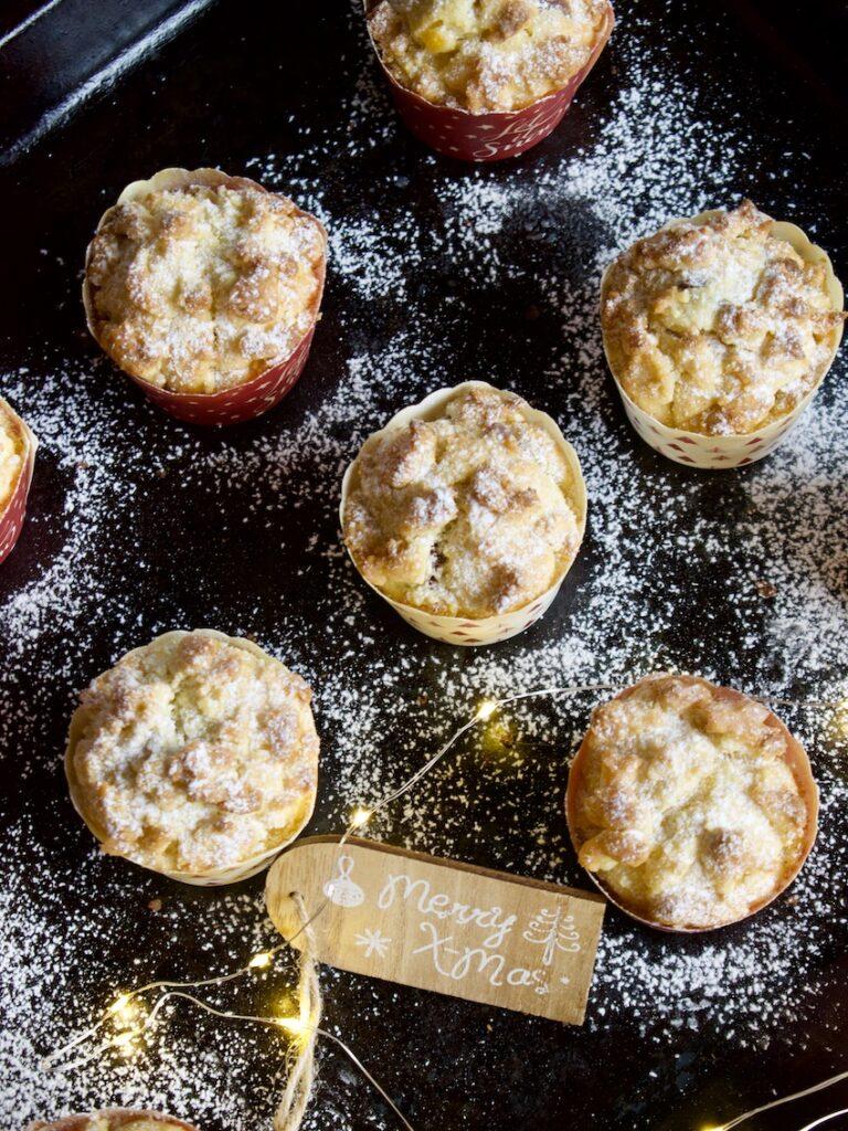 Christstollen Muffins mit Marzipan