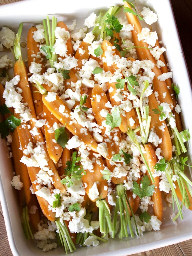 Karotten Schafskäse Gemüse