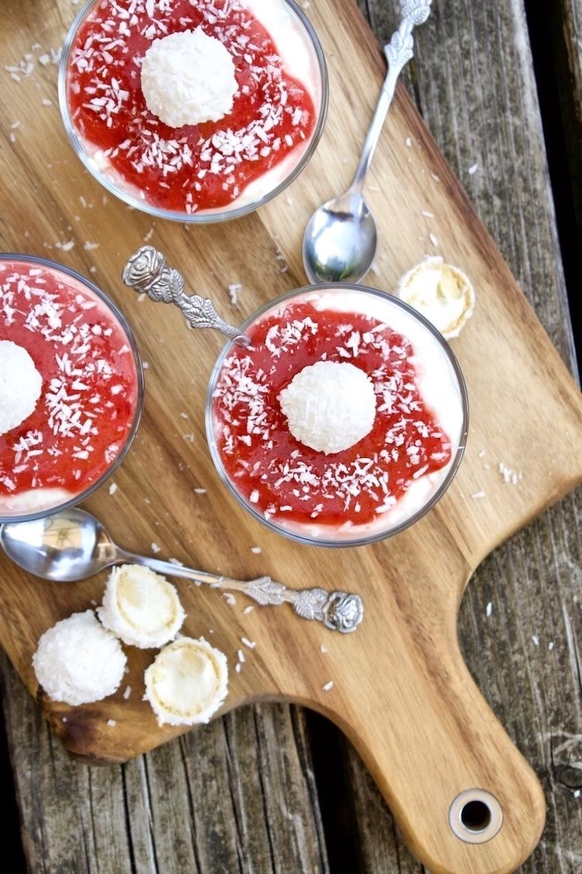 Erdbeercheesecake mit Raffaello